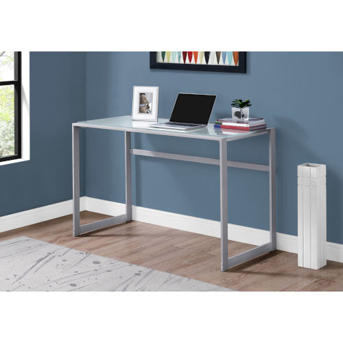 Silver and White 22-Inch Computer Desk