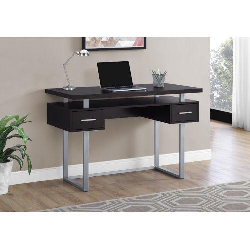 Cappucino and Silver 24-Inch Computer Desk
