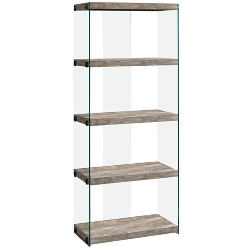 Taupe 12-Inch Bookcase