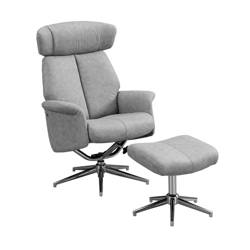 Gray 29-Inch Reclining Chair, 2 Pieces