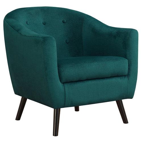 Green 32-Inch Mosaic Velvet Accent Chair