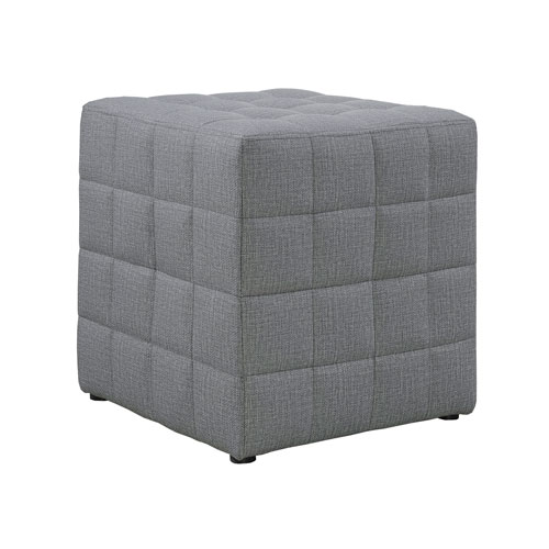 Light Gray 17-Inch Ottoman