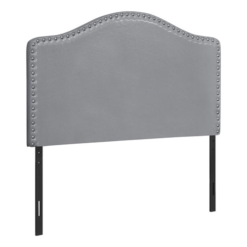 Gray and Black Leather-Look Headboard