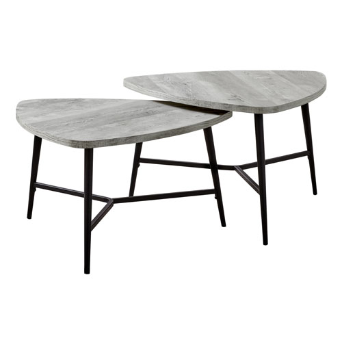 Gray and Black Nesting Table, Set of 2