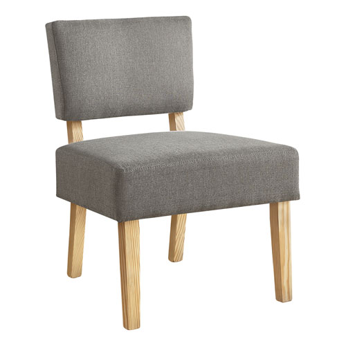 Gray and Natural Armless Chair