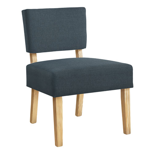 Blue and Natural Armless Chair