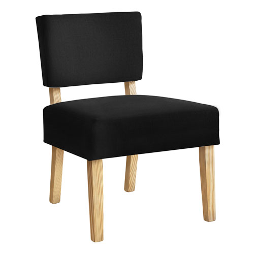 Black and Natural Armless Chair