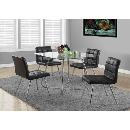 Chrome 40-Inch Dining Table
