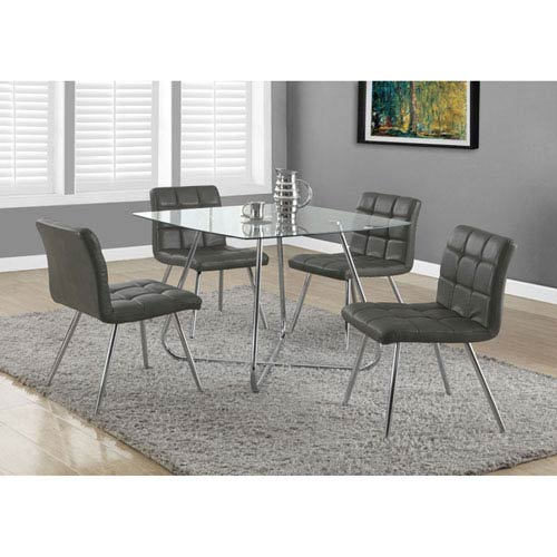 Hawthorne Ave Grey 32-Inch Dining Chair Set of 2