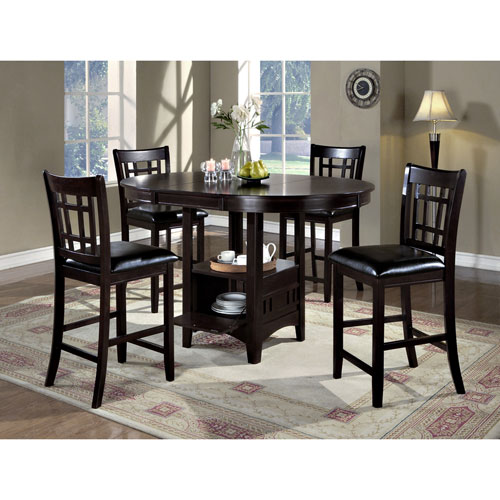 Hawthorne Ave Dining Chair - 2 Piece / 41H / Cappuccino / Black Seat