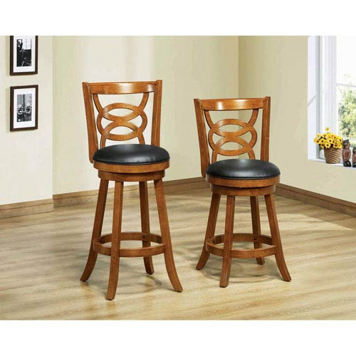 Hawthorne Ave Barstool 2 Piece 39h Swivel Oak Counter Height