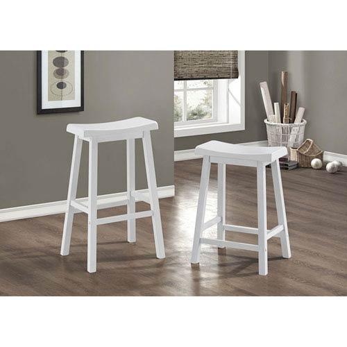 White 24-Inch Barstool Set of 2