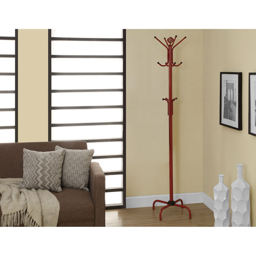 Hawthorne Ave Coat Rack - 70H / Red Metal
