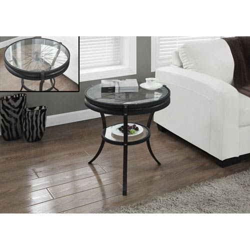 Hawthorne Ave Black 20-Inch Accent Table