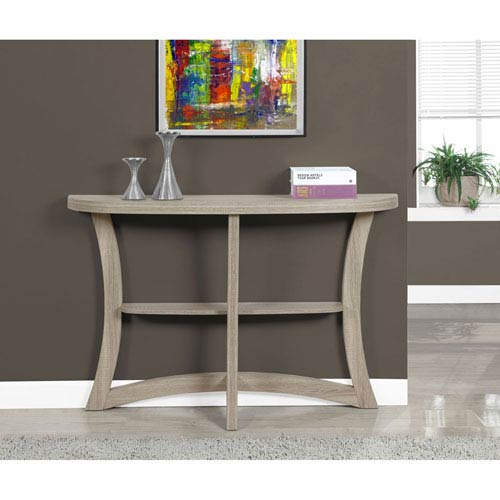 Dark Taupe 47-Inch Accent Table