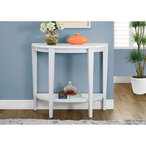White 36-Inch Accent Table