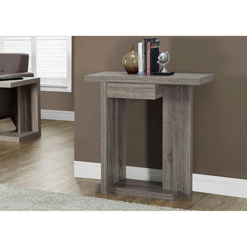 Dark Taupe 32-Inch Accent Table