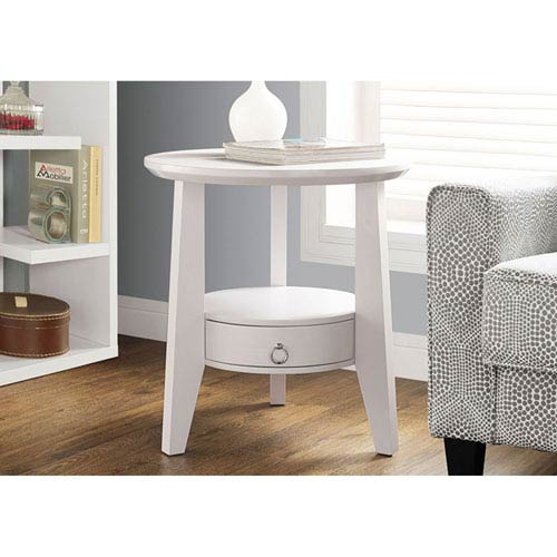 Hawthorne Ave White 23-Inch Accent Table