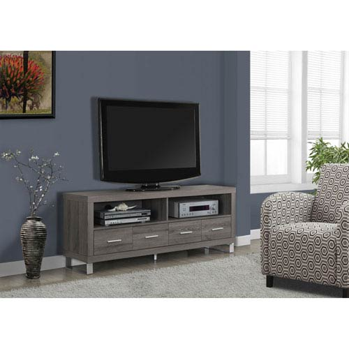 Taupe 60-Inch TV Console