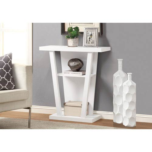 Accent Table - 32L / White Hall Console