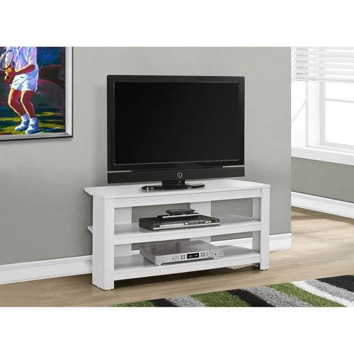 TV Stand - White Corner