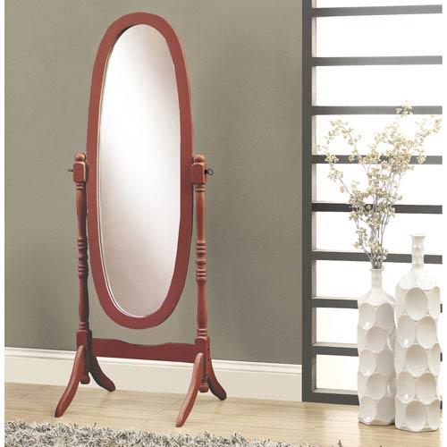 Mirror - Walnut Oval Wood Frame
