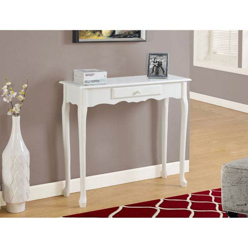 Antique White 36-Inch Accent Table
