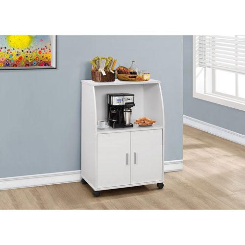 Kitchen Cart - White on Castors
