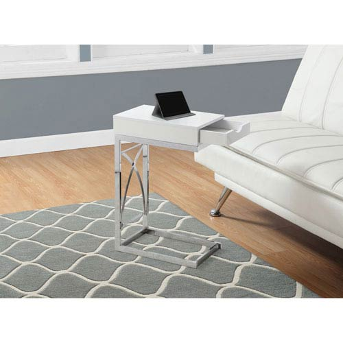 Hawthorne Ave Glossy White Accent Table