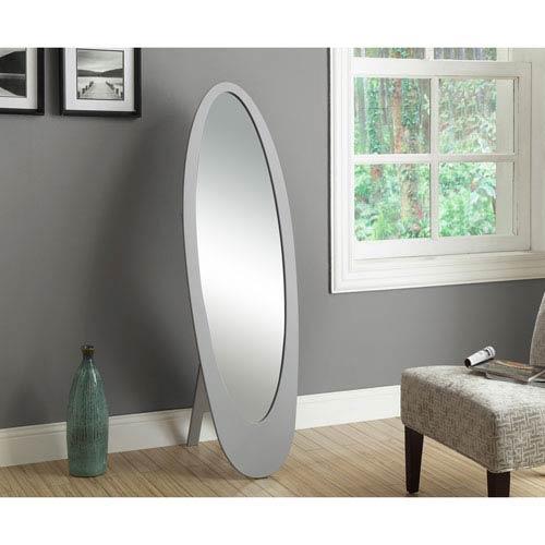 Mirror - 59H / Grey Contemporary Oval Frame