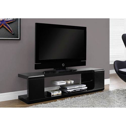 Hawthorne Ave Black 60-Inch TV Console