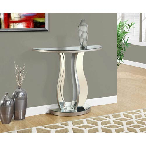 Hawthorne Ave Brushed Pewter 36 Inch Console Table