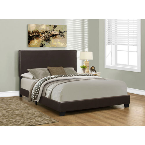 Dark Brown Queen Size Bed