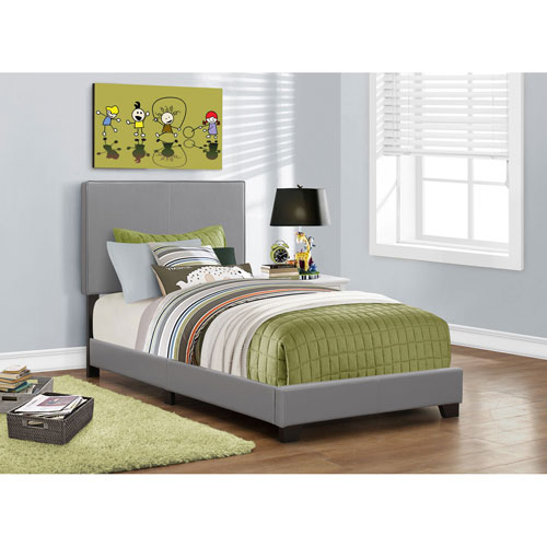 Grey Twin Size Bed