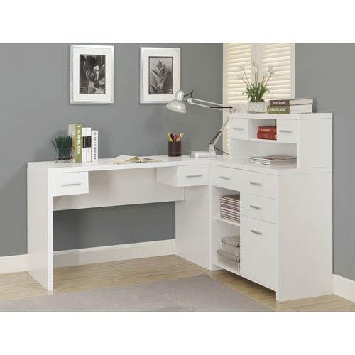Hawthorne Ave Computer Desk - White Left or Right Facing Corner