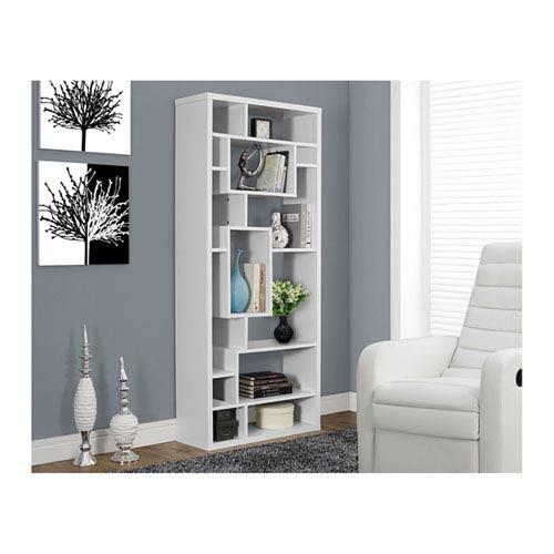 White 72-Inch Bookcase