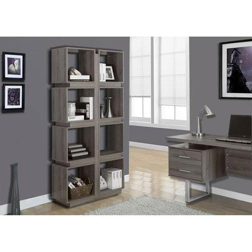 Dark Taupe 71-Inch Bookcase