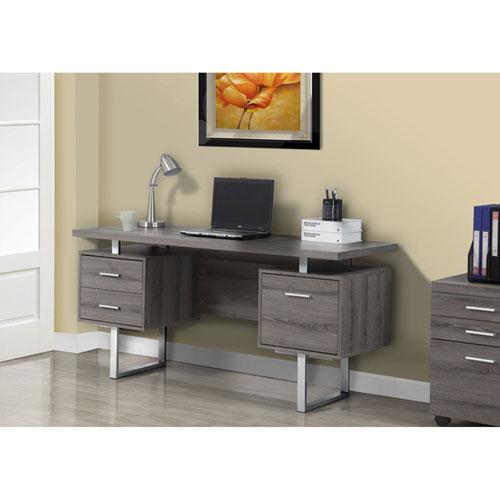 Dark Taupe 60-Inch Office Desk