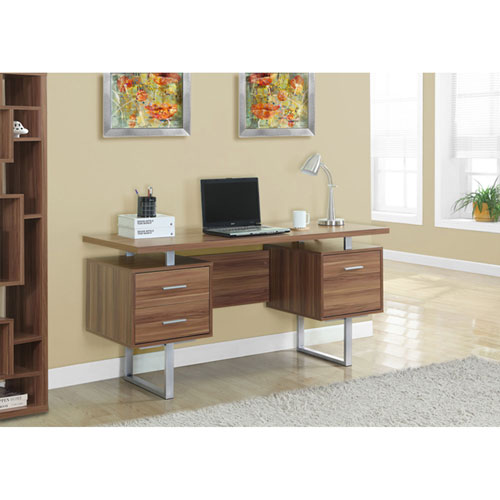 Walnut 60-Inch Office Desk