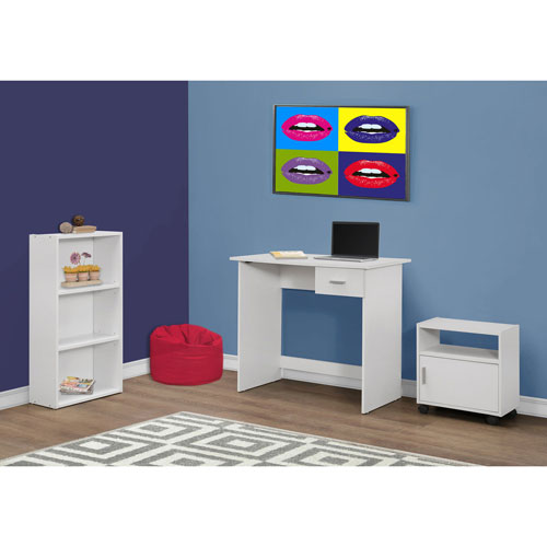 White 3-Piece Computer Desk Set