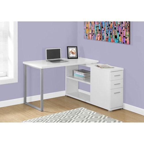 Hawthorne Ave White Computer Desk