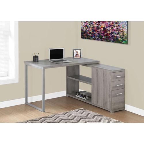 Dark Taupe Computer Desk