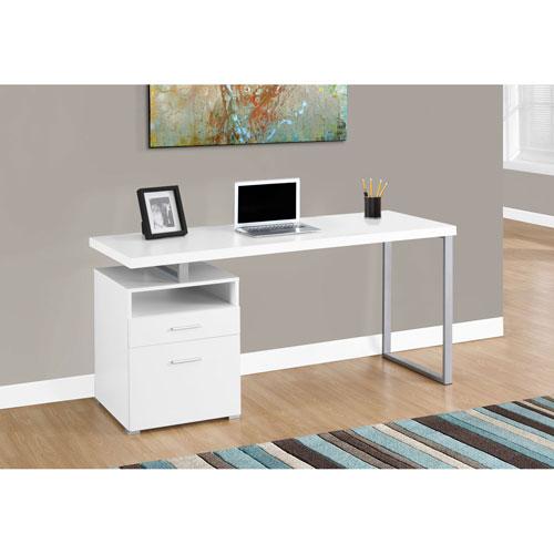Hawthorne Ave White 60 Inch Computer Desk
