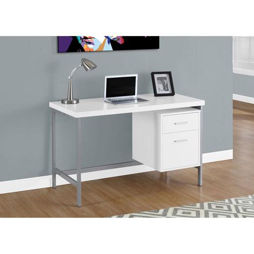 Hawthorne Ave White 48-Inch Computer Desk