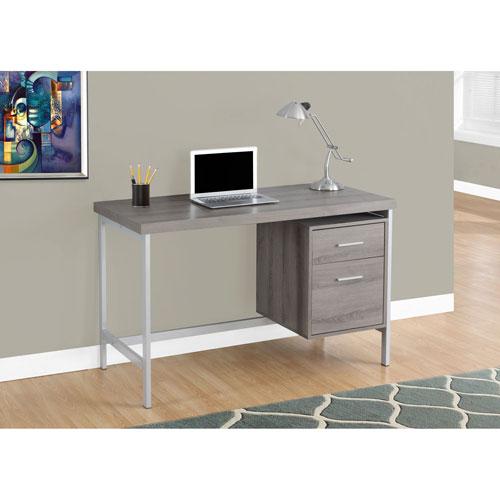 Dark Taupe 48-Inch Computer Desk