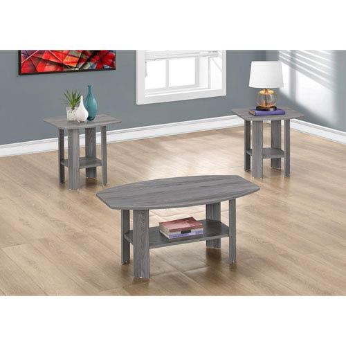 Table Set - 3 Piece Set / Grey