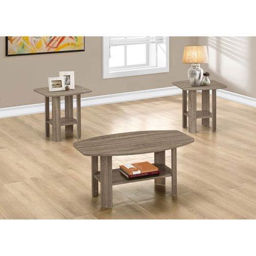 Hawthorne Ave Table Set - 3 Piece Set / Dark Taupe