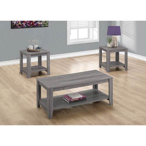 Hawthorne Ave Table Set - 3 Piece Set / Grey