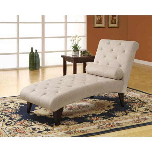Hawthorne Ave Chaise Lounger - Taupe Velvet Fabric