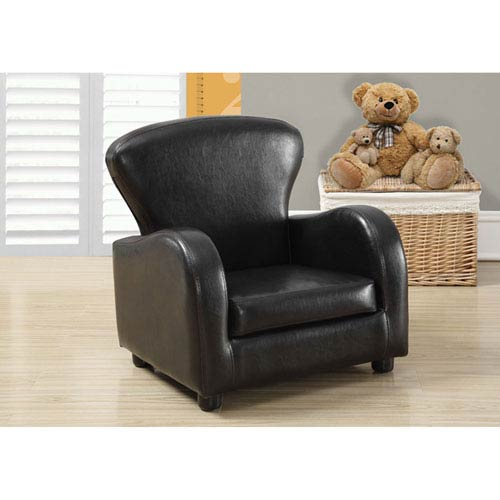 Hawthorne Ave Dark Brown Youth Accent Chair